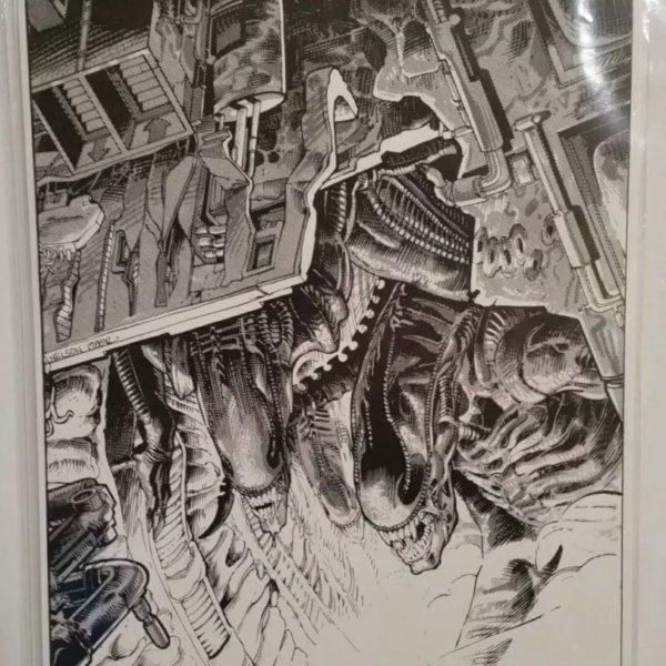 Vintage Aliens Print by Dark Horse Aliens artist Mark A. Nelson, 1989